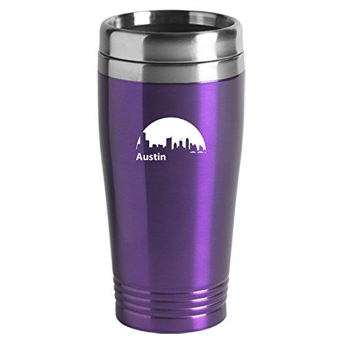 Austin Texas-Travel Mug Tumbler-Purp