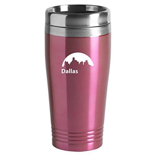 Dallas Texas-Travel Mug Tumbler-Pink