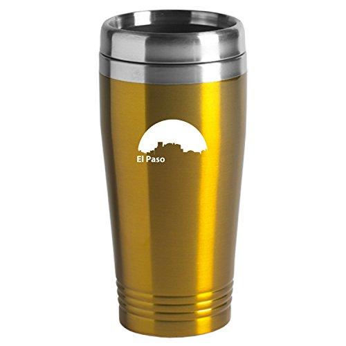 El Paso Texas-Travel Mug Tumbler-Gold