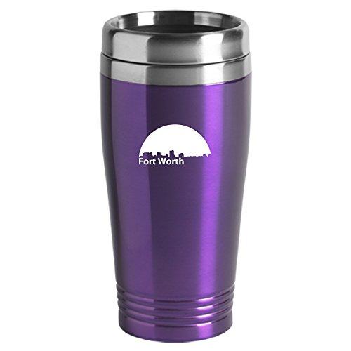 Fortworth Texas-Travel Mug Tumbler-Purp
