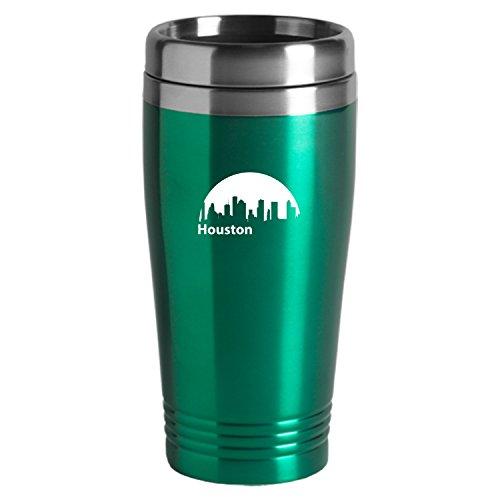 Houston Texas-Travel Mug Tumbler-Green