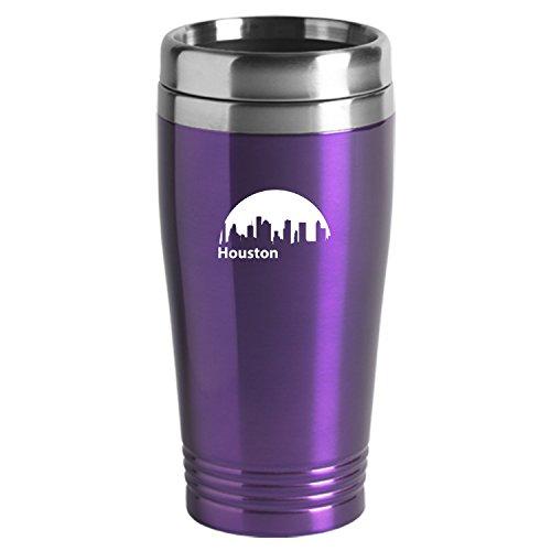 Houston Texas-Travel Mug Tumbler-Purp