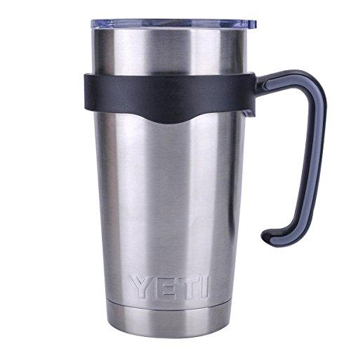 Tumbler Handle for 20 oz Yeti Rambler Cooler Cup Rtic Mug Sic Ozark Trail Grip and more 20 Oz Black