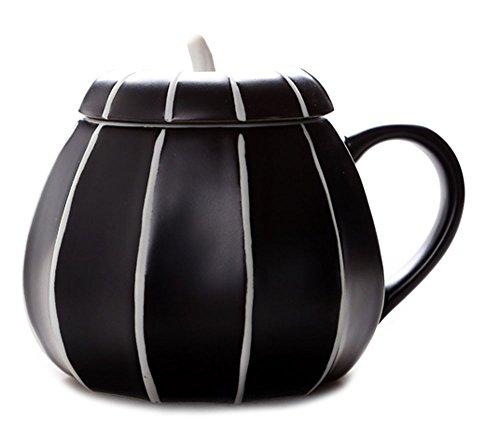 Pumpkin Ceramics Coffee Mug Milk Water Cup With Lid Halloween Pumpkin Cup