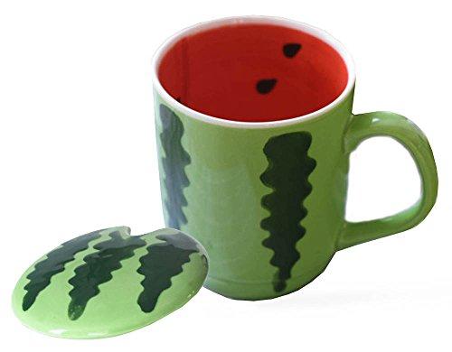 Watermelon Fruit Ceramics Coffee Mug Water Cup with Lid