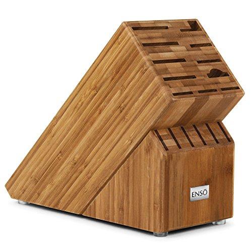 Enso 17-slot Bamboo Knife Block