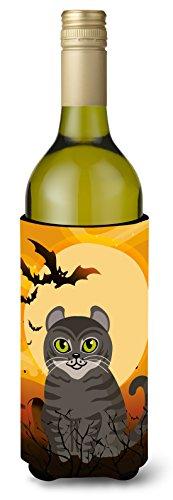 Carolines Treasures Halloween American Curl Cat Wine Bottle Beverage Insulator Hugger 750 ml Multicolor