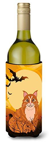 Carolines Treasures Halloween Maine Coon Cat Wine Bottle Beverage Insulator Hugger 750 ml Multicolor