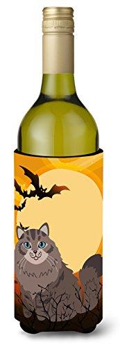 Carolines Treasures Halloween Siberian Cat Wine Bottle Beverage Insulator Hugger 750 ml Multicolor