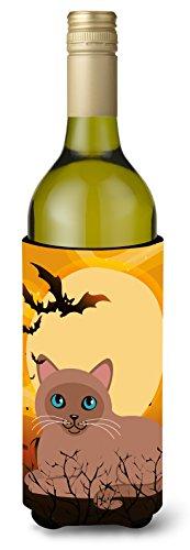 Carolines Treasures Halloween Tonkinese Cat Wine Bottle Beverage Insulator Hugger 750 ml Multicolor