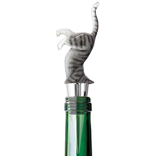 Upside Down Kitty Cat Wine Bottle Stopper Decorative Novelty Barware Tool