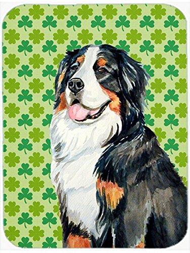 Carolines Treasures Bernese Mountain Dog StPatricks Day Shamrock Glass Cutting Board Large Multicolor