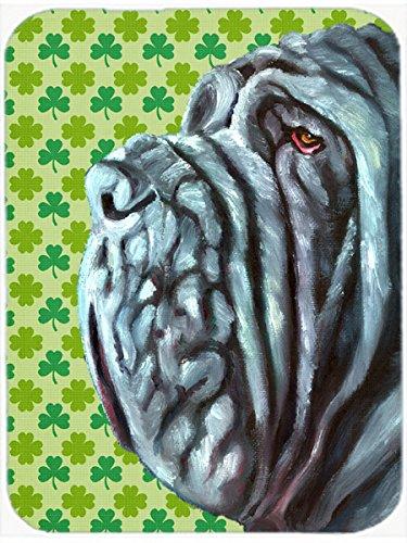 Carolines Treasures LH9568LCB Neapolitan Mastiff St Patricks Day Shamrock Glass Cutting Board Large Multicolor