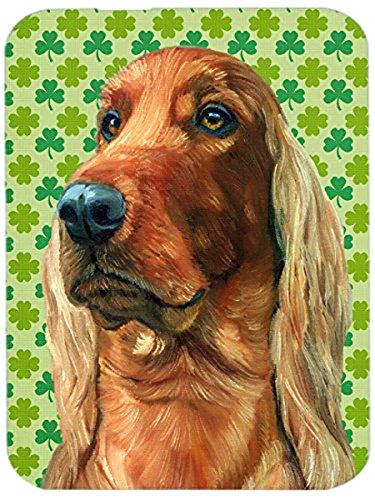 Carolines Treasures LH9569LCB Irish Setter St Patricks Day Shamrock Glass Cutting Board Large Multicolor