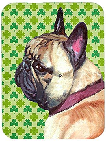 Carolines Treasures LH9573LCB French Bulldog Frenchie St Patricks Day Shamrock Glass Cutting Board Large Multicolor