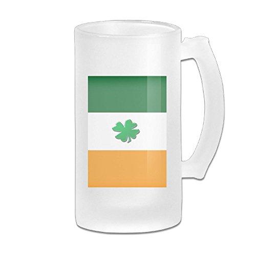 Irish Flag With Shamrocks Glass Beer Stein Wagon Mug MANUBEER Beer Mugs