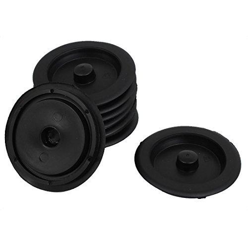 DealMux Rubber Sink Drain Garbage Disposal Stopper Flange 9cm Dia 8Pcs Black