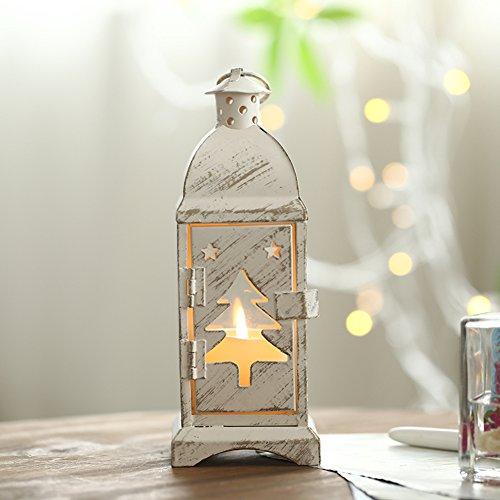 European romantic lanterns Iron decorative ornaments Christmas Moose Angel candle holder---A-A
