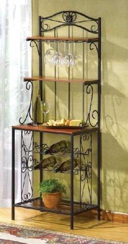 Wine Bottle Glass Rack Holder Kitchen Oenophilia Wooden Metal Corner Free Standing Decorative Iron