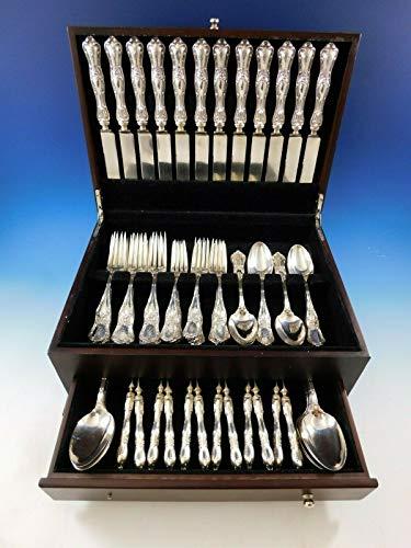 Gothic by Shiebler Sterling Silver Flatware Set for 12 Service 72 pcs Dinner