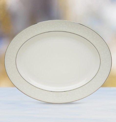Lenox Opal Innocence 16 Oval Serving Platter Fine China Dinnerware