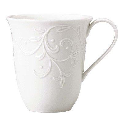 Lenox Opal Innocence Carved Mug Set of 4