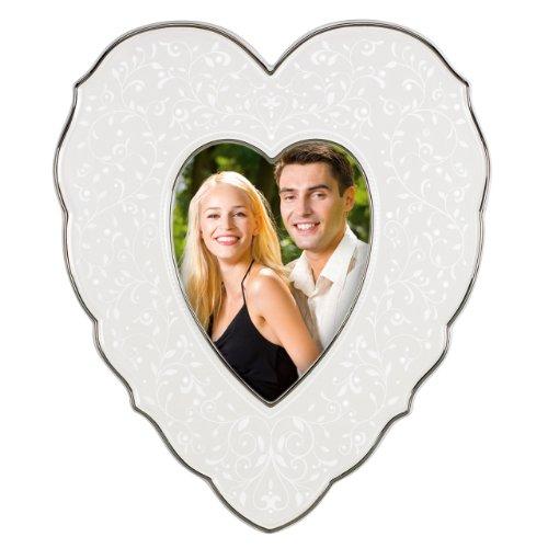 Lenox Picture Frame Opal Innocence Heart 4 x 6