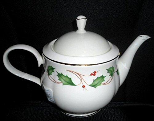 Lenox Holiday Nouveau Ivory Fine China Teapot Made in USA