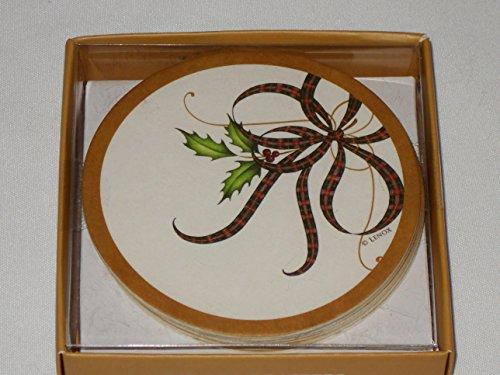 Lenox Holiday Nouveau Paper Coasters 8 Count