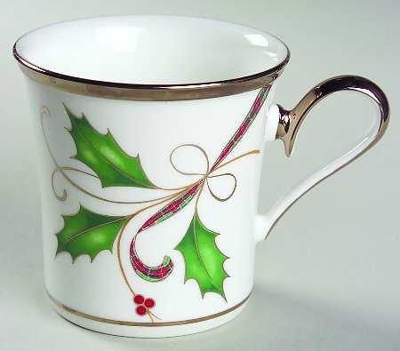 Lenox Holiday Nouveau Platinum White Mug Coffee Cup New