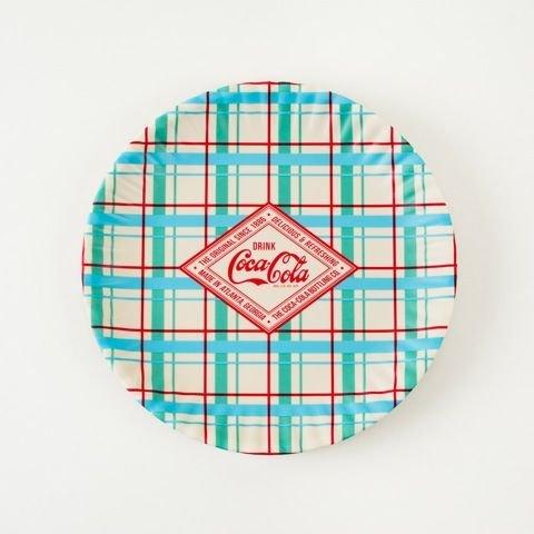 Set of 4 Coke-Cola Diamond Label Melamine 9D Plates