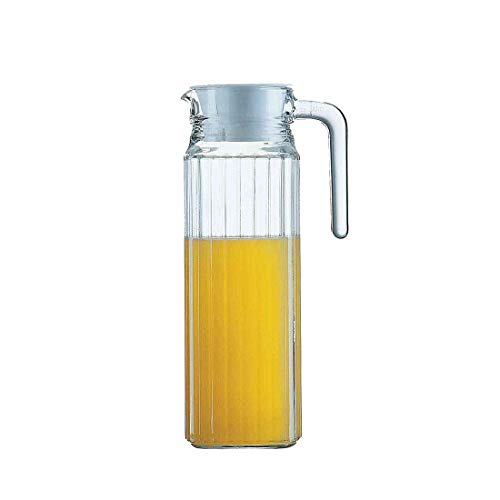 Acrylic Water Pitcher with Lid - for Cold Water Iced Tea Juice Beverage Carafe 68 ounces