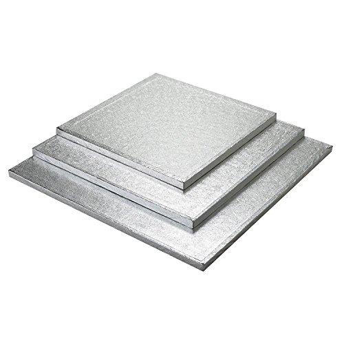 Culpitt Cake Board Square Silver Fern - 12 Inch