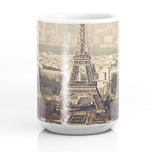Society6 Paris Skyline Aerial View With Eiffel Tower Mug 15 oz