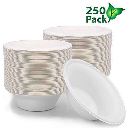 250 ct 12 oz Biodegradable Bowls Compostable Bowls Bulk Eco Friendly Bowls Paper Bowls Disposable