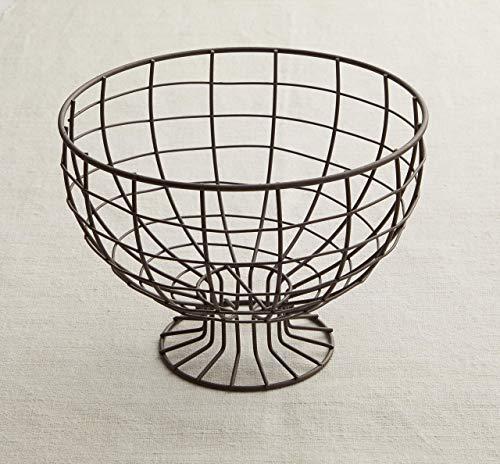 Metal Wire Pedestal Bowl Spring Decorations Metal Wire Basket Wire Fruit Basket Rustic Bowl Rustic Decor Table Centerpiece Fruit Bowl