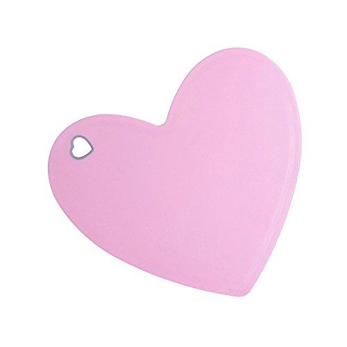Cutting Board Plastic Small Pink Heart Shaped Cute Chopping Board Mat Love Kitchen Gifts for Women Girls