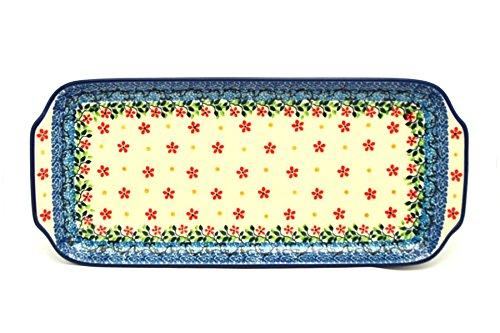 Polish Pottery Tray - Appetizer - 12 - Cherry Jubilee