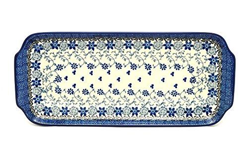 Polish Pottery Tray - Appetizer - 12 - Silver Lace