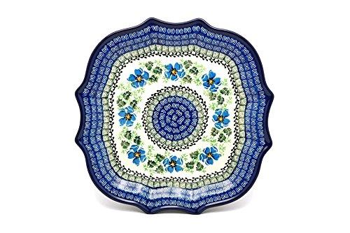 Polish Pottery Tray - Serpentine Edge - Morning Glory