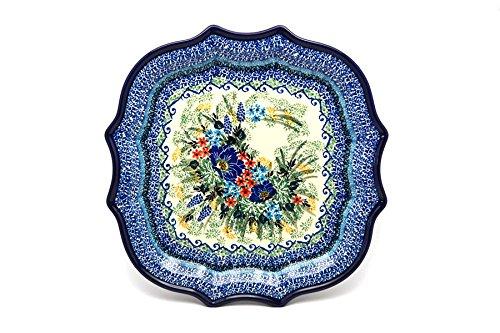 Polish Pottery Tray - Serpentine Edge - Unikat Signature U4695