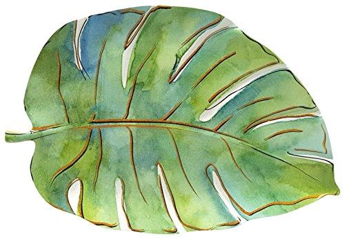 Coastal Home Flamingle Leaf Oblong Platter One Size Green