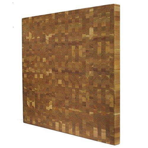 Kobi Blocks Cherry End Grain Butcher Block Wood Cutting Board 8 X 8 X 4