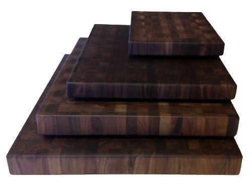 Walnut Cutting Boards End Grain Hardwood Butchers Chopping Block Size Small 9x12 inch
