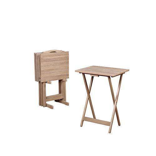 Brighton Hill Gray Acacia Wood Tray Set