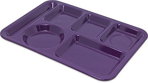 Carlisle 4398087 Left-Hand Heavy Weight 6-Compartment Trays Dozen 14-Inch x 10-Inch Melamine Purple