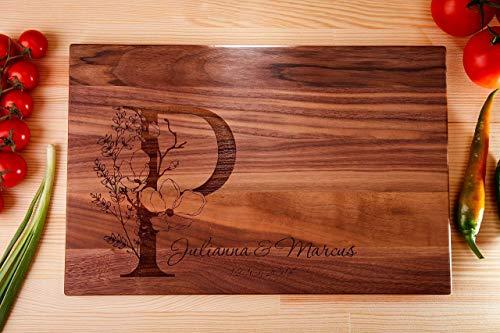 Wood cutting boards walnut cutting boardwooden cutting boardwedding gift cuttingtree cutting boardname cutting board
