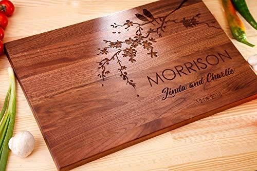 custom wood cutting board gift walnut cutting boardwooden cutting boardwedding gift cuttingtree cutting boardname cutting board