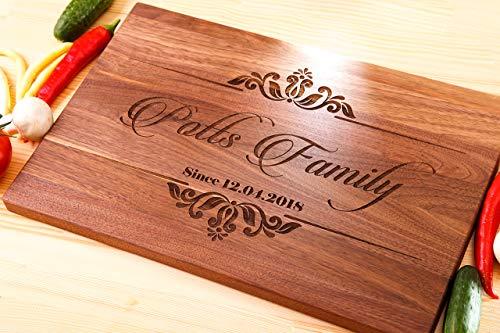 name cutting board personalized wood cutting board christmas gift walnut cutting boardwedding gift cuttingtree cutting boardchristmas gifts cutting board