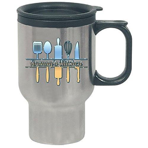 Granny S Kitchen Funny Cooking Kitchen Sign Design - Travel Mug